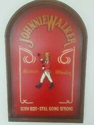 Extremely Rare Johnnie Walker Wooden 3d Advertising Sign Board Big Version