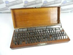Vintage Doall 109 Pc. Gage Block Set .0201 - 4 W/ Wood Case - Incomplete