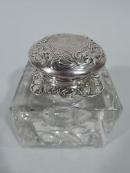 Gorham Inkwell - D788 - Antique Art Nouveau Inkpot American Sterling Silver