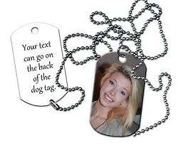 Custom Personalized Photo Dog Tag Jewelry Two Sided. Add your picture and text $14.00