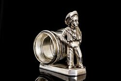 Victorian Silver Plate Figural Napkin Ring Sailor Boy Simpson Hall And Miller C7