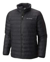 Columbia Mens Trail Puffer Thermal Coil Jacket Size LARGE Black New w tags~