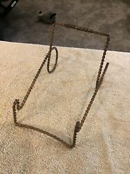 Brass Twisted Metal Table-top Display Easel - Plate Art Holder- Display Stands