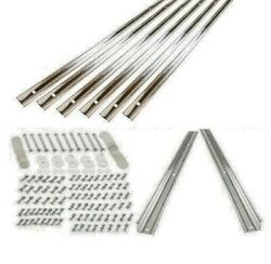 Bed Strips Kit Chevy 1954 - 1955 Polished Stainless Short Bed Wood Stepside Set