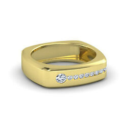 Real 14k Yellow Gold Ring 0.50ct Genuine Diamond Engagement Mens Band Size 10 12