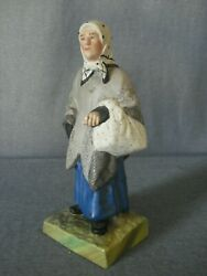 Early Soviet Russian Porcelain Figurine Jewish Woman After Gardner Factory