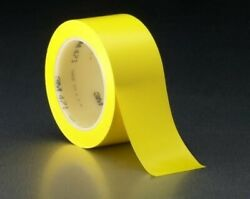 3m Vinyl Tape 471 Yellow Heat Treated, 1/2 In X 36 Yd, 72 Individually Wrapp