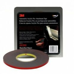 3m 6386 1/4 In X 20 Yds Automotive Acrylic Plus A 42739 In Black