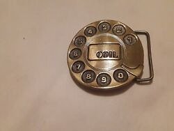 VINTAGE 1970s **COIL** TELEPHONE EQUIPMENT COMPANY BELT BUCKLE. FREE shipping