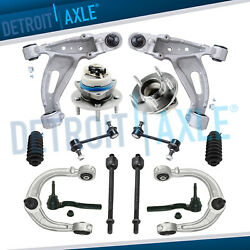 14pc Front Upper Lower Control Arm Wheel Hub Suspension 2003-07 Cadillac Cts Rwd