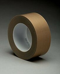 3m 5453 2 In X 36 Yd Ptfe Glass Cloth Tape 2 In Brown