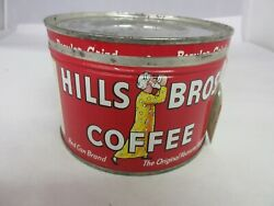 Vintage Hills Brothers Brand Coffee Tin Advertising Collectible  640-u