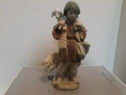 Lladro 5485 Shepard Boy, Hand Signed With Date, Box