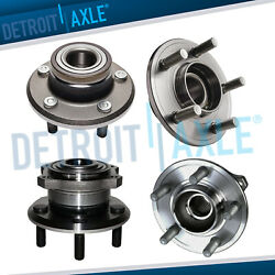 2wd Front And Rear Wheel Bearing And Hub Assembly For 2005-2009 Charger 300 Magnum