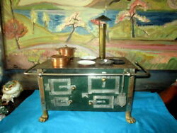 Antique Stove For Doll House 1860 Steel Lion Paws Bing