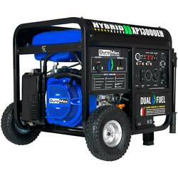 Duromax 13,000-w Portable Hybrid Dual Fuel Powered Generator With Electric Start