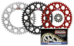Renthal Ultralight Front And Rear Sprocket And R1 Works Chain Kit For Honda Crf450r