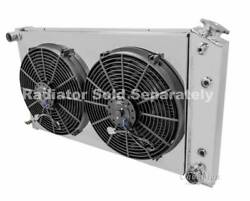 Chevy Truck Custom Aluminum Radiator Fan Shroud And 2-12 Fans And Relay Kit,fits 16