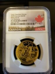 2020 Canadian Early History New France - 200 Pure Gold Coin First Release