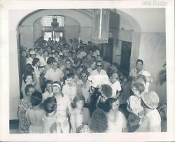 1963 Photo St Petersburg FL City Hall Striking General Telephone Company People