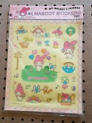 Rare 1976 My Melody Sticker Sheet By Sanrio. 26 Total Stickers. New Old Stock