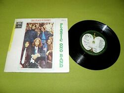 The Beatles Plastic Ono Band Give Peace A Chance 1969 Israel Nm A1/b1 Discolored