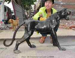 40 Old China Chinese Fengshui Bronze Animal Zodiac Tiger Beast Roaring Statue