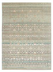 Modern Contemporary 5and0397and039and039x7and03910and039and039 Handmade Oxidize Vintage Wool And Silk Area Rugs