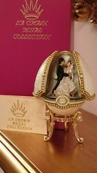 Vintage Faberge Egg Russia Anniversary Gift For Parent 24k Gold Jewelry Egg Hmde