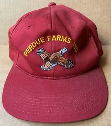 Perdue Farms Quail Logo Red Baseball Cap Hat, Agriculture, Vintage New, Nos