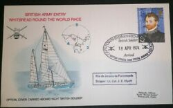 British Army Whitbread Round World Race 1974 Fdc First Day Cover Stamps