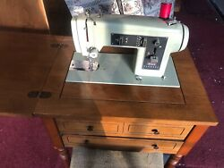 Vintage Sears Kenmore Sewing Machine With Folding Table