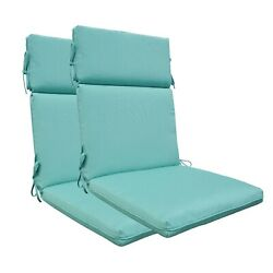Bossima Patio Outdoor High Back Chair Cushions Set Of 2 Olefin Sky Blue