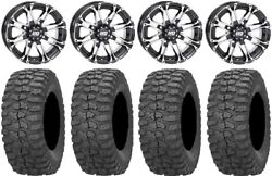 Sti Hd3 14 Wheels Machined 32 Rock-a-billy Tires Can-am Defender