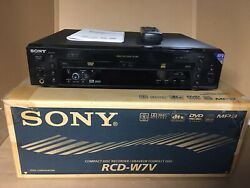 Sony Rcd-w7v Cd Recorder / Dvd Player ,very Rare ,excellent,in Original Box