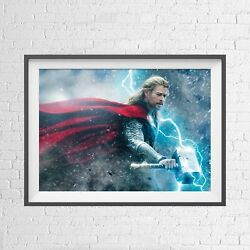 Marvel Superhero Thor Poster Picture Print Sizes A5 To A0 New