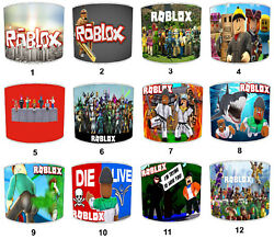 Roblox Children`s Lampshades Ideal To Match Roblox Duvets And Roblox Wall Decals
