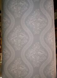 Magnolia Home J. Gaines Light Blue Coverlet Floral Prepasted Wallpaper Mh1598