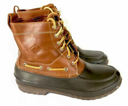Sperry Duck Boots Mens 10 M Waterproof Leather/ Rubber Hunting/ Fishing