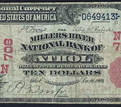 Ma 1902 10 Red-seal ♚♚atholmassachusetts♚♚ Pmg Fine 12 Only Red-seal