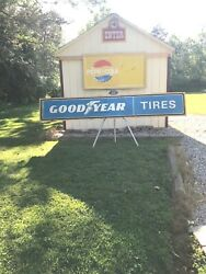 Vintage Original Gas Oil Tires Advertising Sign Goodyear 10 Ft Yes Will Ship