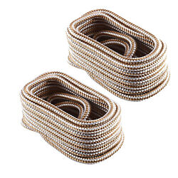 2 Pack 1/2 Inch 20 Ft Double Braid Dock Line Mooring Rope For Boat Marine Yacht