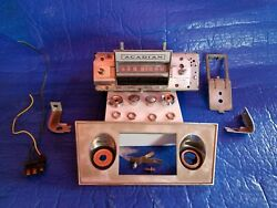 1966 1967 Pontiac Acadian Sport Deluxe Canso Am Radio W/knobs/plug/face/brackets