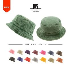 Bucket Hat 100% Cotton Pigment Dyed Packable Summer Travel Bucket Hat 1505 $10.79
