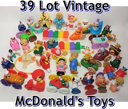 39 Lot Vintage Mcdonalds Happy Meal Toys Collectibles Fast Food Premiums Disney