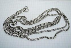 Antique Russian Imperial Sterling Silver 84 Jewelry Long Chain Necklace 63 Gr