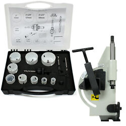 60 Degree Tube Andamp Pipe Notcher With 13 Pc Bi-metal Hole Saw 3/4and034 - 2-1/2