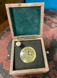 VINTAGE OMEGA CLOCK COSTUME CASE 17 JEWELS CHRONOMETER 8 DAY + 2 DAY POWER RESER