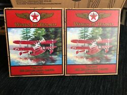 Lot Of 5 Wings Of Texaco Die-cast Coin Banks And Crayola Limited 132 Planes, New