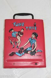 Tune Tote By Pony Tail With 11 33 And 45 Rpm Childrens Records-disney-peter Pan